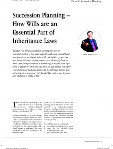 Taresh Article in FPSB Journal on WILL