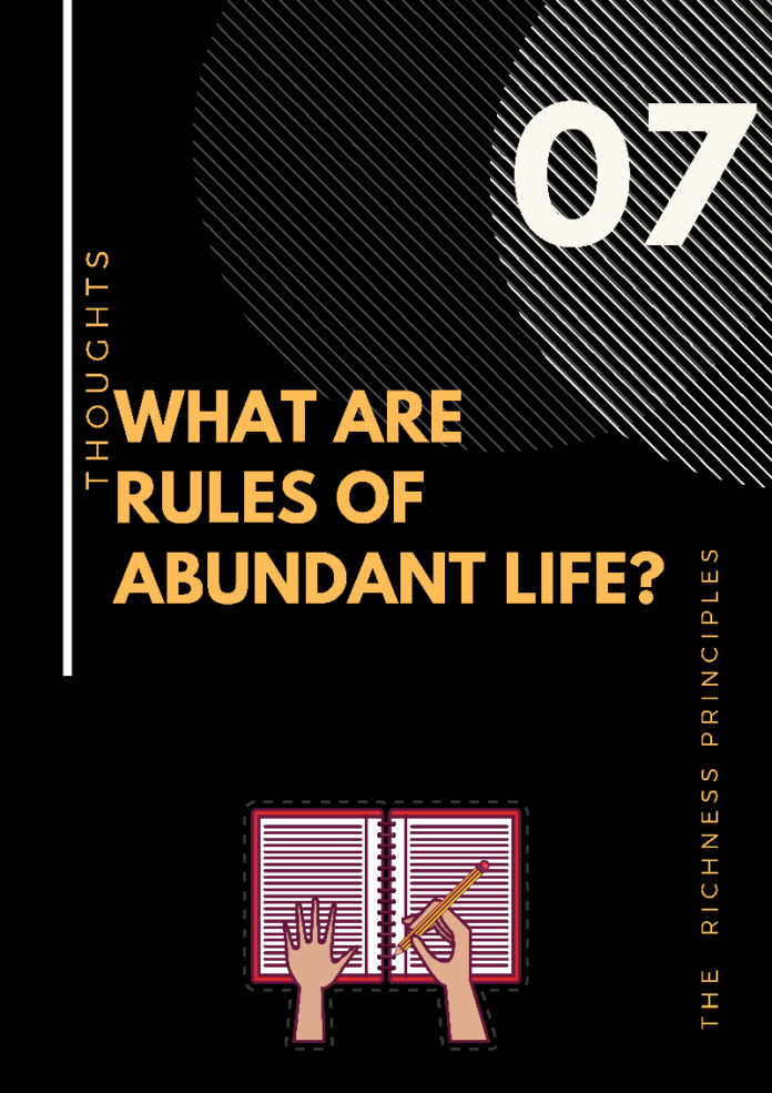 what re the rules of abundant life