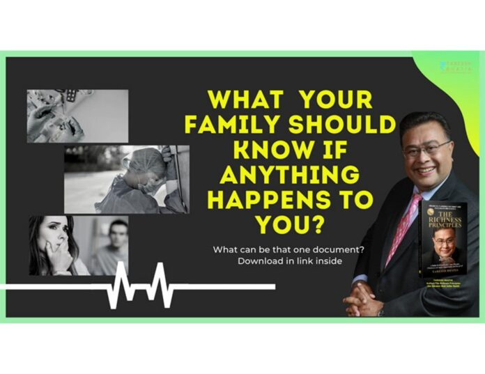 what you family should know if anything happens to you